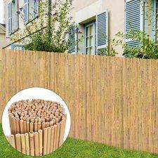 vidaxl gartenzaun bambus sichtschutz windschutz bambusmatte mehrere auswahl masse 300 x 150 cm