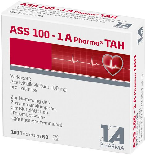 1a pharma ass 100 tah tabletten 100 st ck pzn 06312077. Black Bedroom Furniture Sets. Home Design Ideas