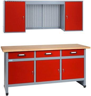 k pper sparset werkstatt 170 cm werkbank h ngeschrank g nstig. Black Bedroom Furniture Sets. Home Design Ideas