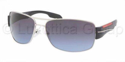 Prada Sport Herren 0PS53NS 7AX5W1 65 Sonnenbrille, Schwarz (Black/Polar Grey)