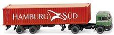 Wiking Büssing BS 16 Containersattelzug ´´Hambu...