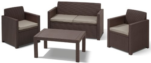 allibert merano lounge sitzgruppe polyrattan preisvergleich ab 199 00. Black Bedroom Furniture Sets. Home Design Ideas