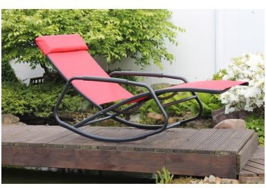 leco schaukelstuhlkissen rot preisvergleich ab 45 26. Black Bedroom Furniture Sets. Home Design Ideas