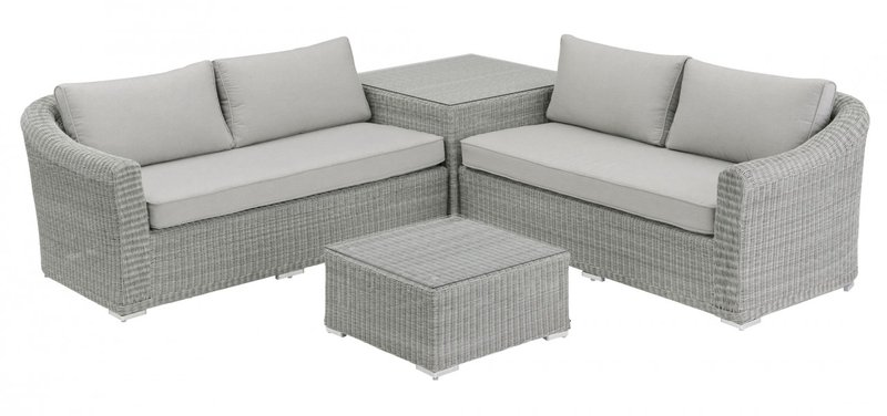kettler oxford loungeset 4 tlg polyrattan g nstig bestellen. Black Bedroom Furniture Sets. Home Design Ideas