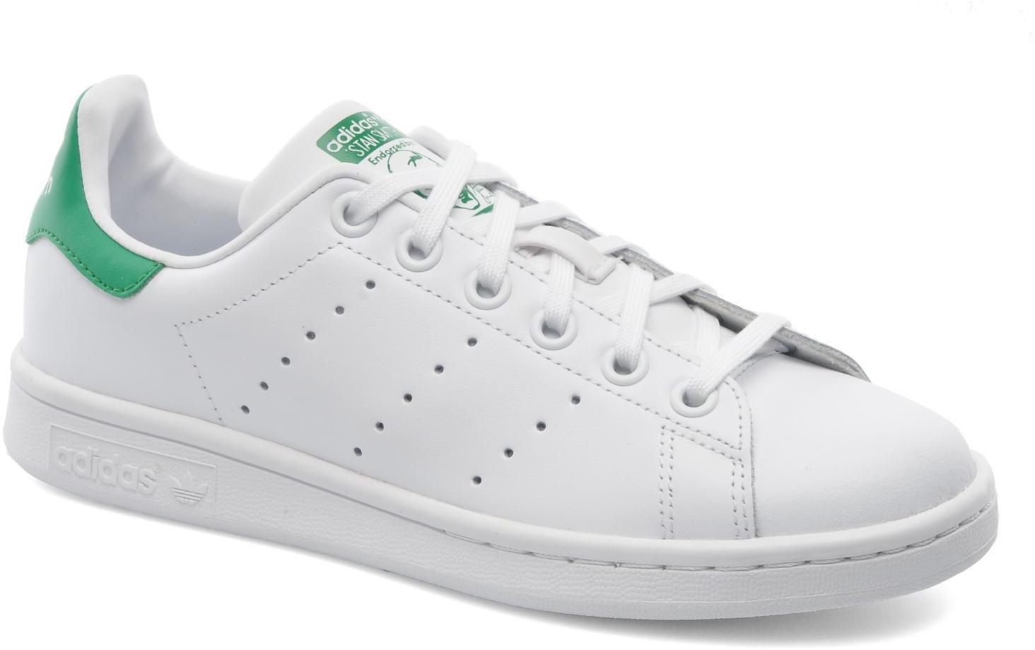 official photos 8784c a87f6 Adidas Stan Smith K white white green günstig kaufen