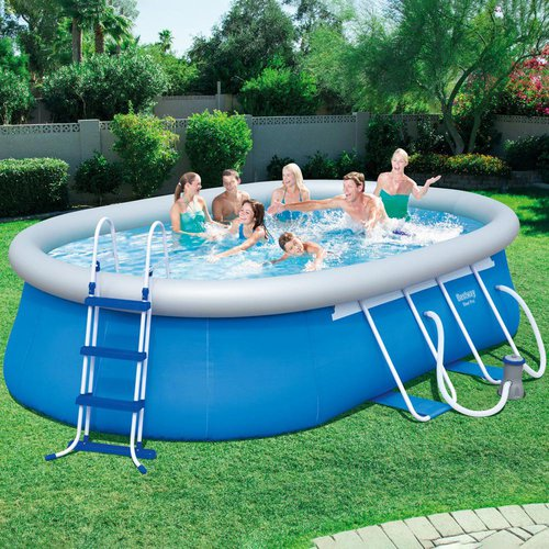 bestway fast set pool 488 x 305 x 107 cm 56447 preisvergleich ab 379. Black Bedroom Furniture Sets. Home Design Ideas