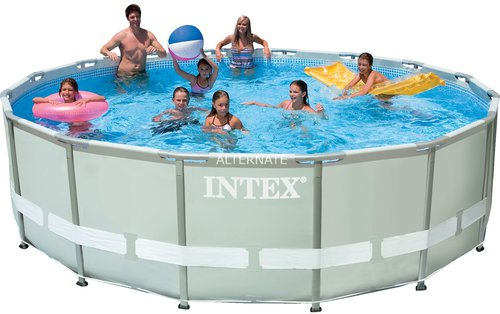 intex pools ultra frame pool 488 x 122 komplettset. Black Bedroom Furniture Sets. Home Design Ideas