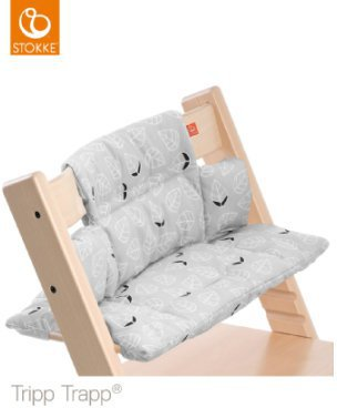 stokke tripp trapp sitzkissen grey leaf bei ab 34 94. Black Bedroom Furniture Sets. Home Design Ideas