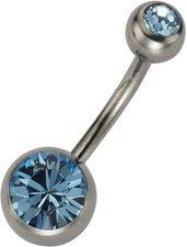 ZEEme Bauchnabelpiercing mit blauem Kristall (0...