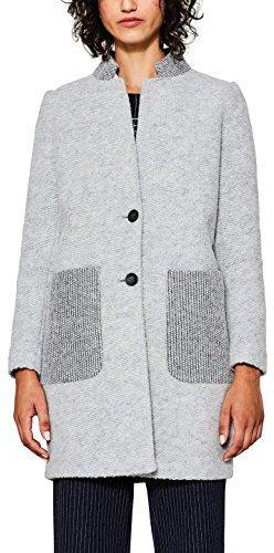 Esprit mantel wolle grau