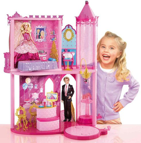 barbie puppenhaus g nstig kaufen bei ab 15 89. Black Bedroom Furniture Sets. Home Design Ideas